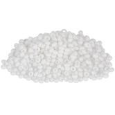Opaque White Czech Glass Seed Beads - 8/0