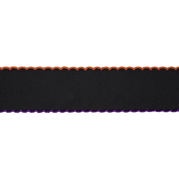 "Stitched Scalloped Edge Grosgrain Ribbon - 2"""