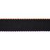 Black Stitched Scalloped Edge Grosgrain Ribbon - 2