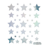 Silver Holographic Star Stickers