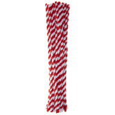 Red & White Twisted Chenille Stems