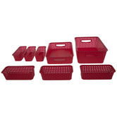 Red Storage Container Set