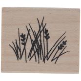 Posh Wild Grass Rubber Stamp