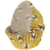 Yellow Bee Baking Cups