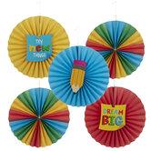 Dream Big Multi-Color Paper Fans