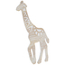 Geometric Giraffe Wood Wall Decor