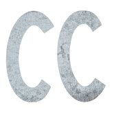 "Galvanized Metal Letters C - 4"""