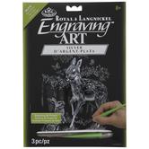 Fawn & Bunny Silver Foil Engraving Art Kit