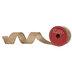 Gold Metallic Striped Wired Edge Ribbon - 1 1/2
