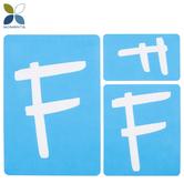 Fun Font Monogram Adhesive Stencils - F
