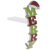 Green & Red Merry Stocking Holder