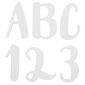 White Chipboard Alphabet Stickers