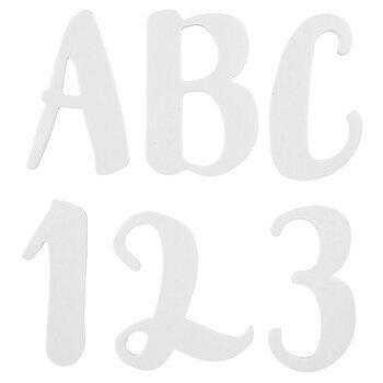White Chipboard Alphabet Stickers