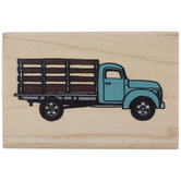 Flatbed Farm Truck Rubber Stamp