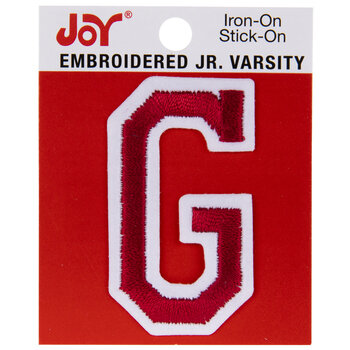 "Red Junior Varsity Letter Iron-On Applique G - 2"""