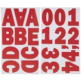 Red Franklin Alphabet Stickers