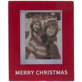 "Merry Christmas Wood Frame - 2"" x 2 3/4"""