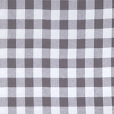 Gray & White Buffalo Check Flannel Fabric