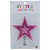Light Pink Glitter Star Mini Tree Topper