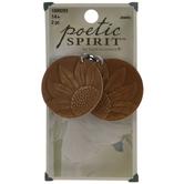 Leather Sunflower Pendants