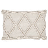 Natural Woven Triangle Pillow