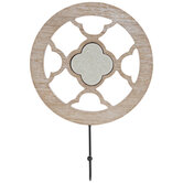 Medallion Wood Wall Decor With Hook