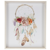 Dreamcatcher With Flowers Wood Wall Decor