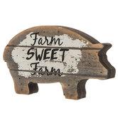 Farm Sweet Farm Wood Pig