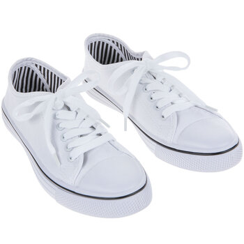 White Canvas Women's Sneakers