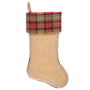 Burlap & Plaid Stocking