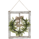Easter Wreath Window Wood Wall Decor