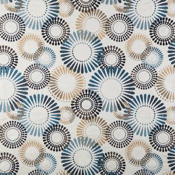 Indigo Grand Carousel Fabric