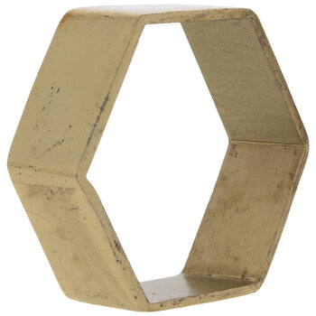 Gold Hexagon Metal Napkin Ring