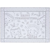 Happy Thanksgiving Coloring Placemats