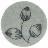 Gray Leaf Logo Round Knob