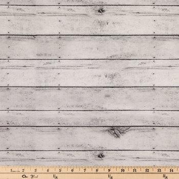 Gray Shiplap Duck Cloth Fabric