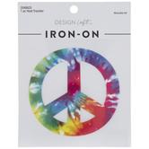 Rainbow Tie-Dye Peace Sign Iron-On Applique