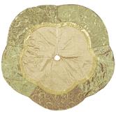 Gold Velvet & Sequins Tree Skirt
