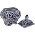 White & Blue Floral Jar