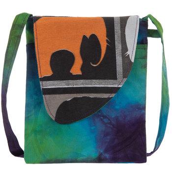 Tie-Dye Batik Crossbody Handbag