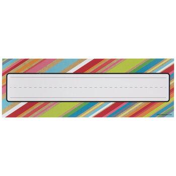Multi-Color Diagonal Striped Nameplates