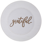 Grateful Wood Charger Plate