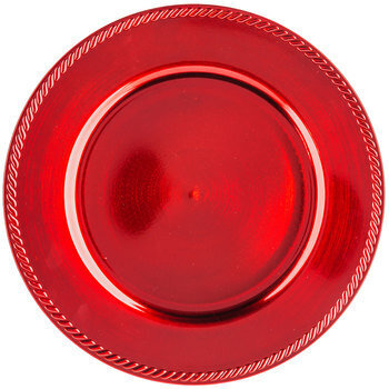 Red Plate Charger
