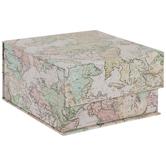 Vintage Maps Square Box