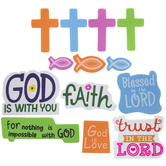 Christian Icons & Words Foam Stickers