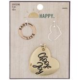 Choose Joy Heart Pendant & Charms