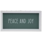 Peace & Joy Wood Wall Decor