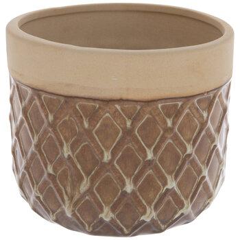 Brown & Beige Diamond Pot