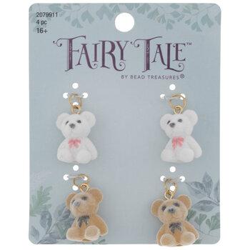 Fuzzy Teddy Bear Charms