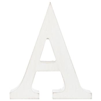 Whitewash Wood Letter